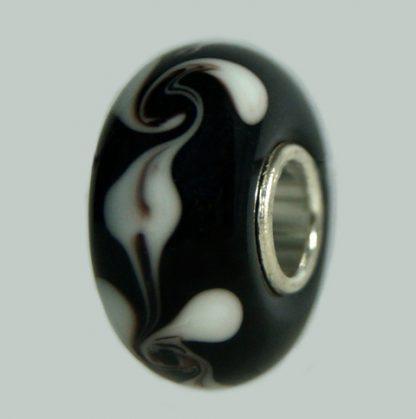 Atelier Texel Glasperlen GB 14. Glasperlen mit Sterling Silber Kern. Geeignet für Pandora, Trollbeads usw. Glasperlen ateliertexel.com ©