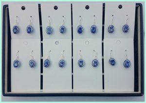 Delfs blauwe oorbellen van atelier texel