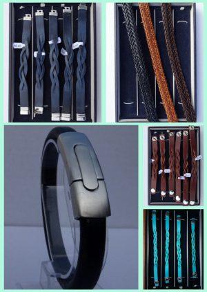 Atelier Texel leder Armbänder und Edelstahl Verschluss