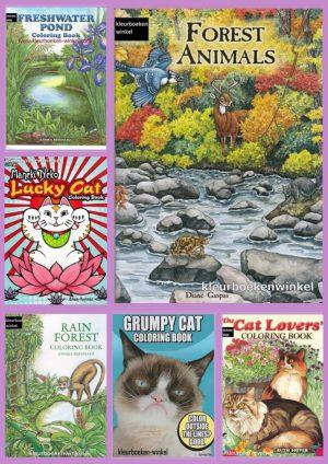 Malbucher Tiere und Natur