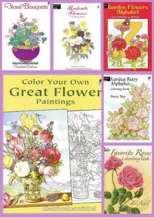 kleurboeken bloemen en vlinders