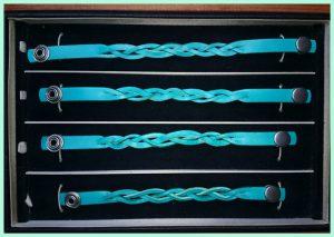 Atelier texel - leren vlecht armbanden - drukknoppen