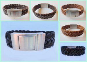 atelier texel leren armbanden edelstaal