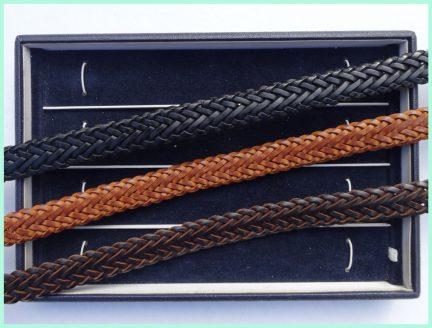 geflochten Leder schwarz – hellbraun – dunkelbraun