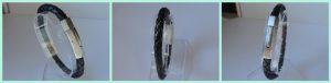 Leder Armband schwarz